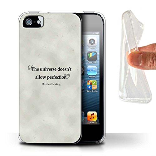 Stuff4 Gel TPU Hülle / Case für Apple iPhone SE / Henry Ford Muster / Berühmte Zitate Kollektion Stephen Hawking