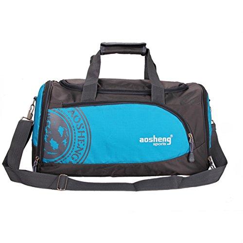 TENGGO Männer Frau Gym Bag Große Kapazität Outdooors Fitness Multifunktionale Schultertasche-Blau