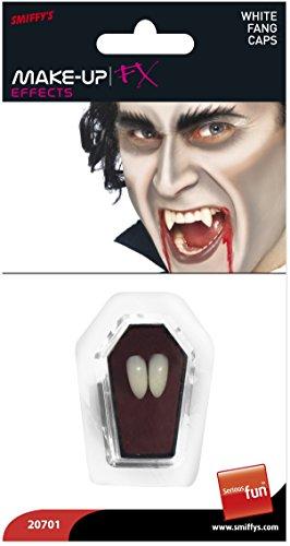 Smiffys Colmillos funda de diente, blancos, colmillos de vampiro