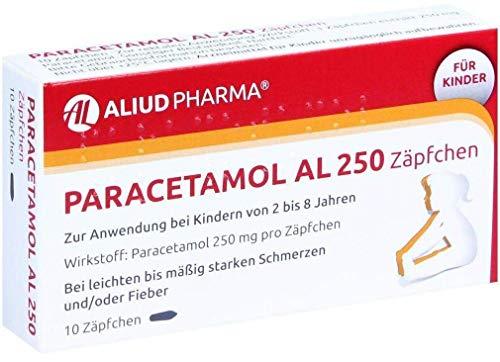 Paracetamol AL 250 Zäpfchen, 10 St. Zäpfchen