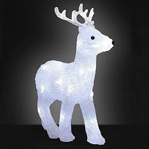 Deuba LED Acryl Figur Weihnachtsdeko Beleuchtung Weihnachten Hirsch Indoor Outdoor