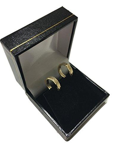 Kleine Griechische Schlüssel Ohrringe Creolen Gelbgold Aus 14 Karat/585 Gold (3 x 14 Ø mm) - PR141