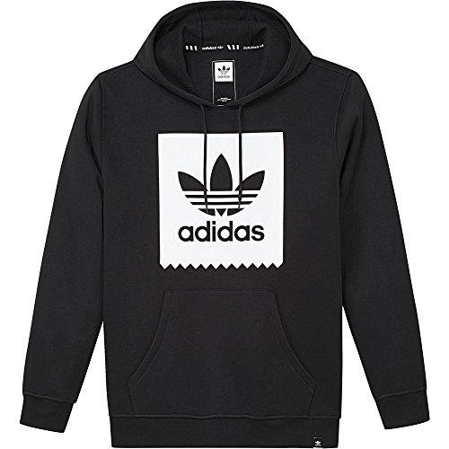 adidas Trefoil Solid Kapuzenpullover Herren schwarz / weiß, M - 50