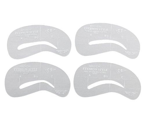 4 Augenbrauen Schablonen Makeup Bogenschablone Brauen In Form