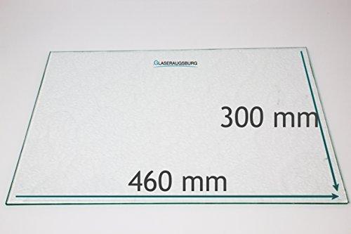 Kühlschrank Einlegeboden/Glasplatte/Gemüsefach - Strukturglas 4 mm dick - 460 mm x 300 mm - Direkt vom Glasereifachbetrieb!!! 300 Glas