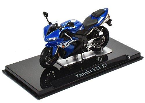 1998 Yamaha YZF-R1 [Atlas 4110107] Azul, 1:24 Die Cast
