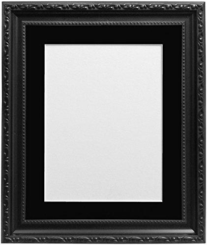 "Frames By Post AP - 3025 Bilderrahmen mit schwarzem, weißem, elfenbeinfarbenem oder, Pink, hellblau grau), plastik, Schwarz, 40 x 50 cm Pic Size 15"" x 10"" (Plastic Glass)"