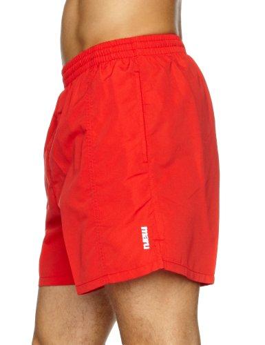 Maru Short de bain pour homme Uni 40 cm rouge - Rouge