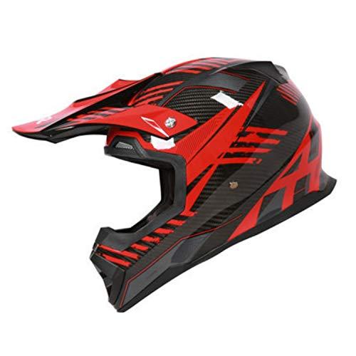 Carbon Motocross Helm, DOT/ECE zertifizierter Motorradhelm ATV City Street Reithelm MX Rally Competition Offroad Helm,L