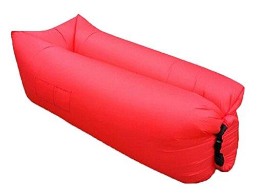 ZERUU® Aufblasbarer Strandliege-Luftschlafsack-im Freiensofa Bequemer aufblasbarer Aufenthaltsraum-bewegliche Kompression Sofa-Luft-Beutel-im Freien Kompressions-Luft-Betten, beweglicher Stuhl, Luftmatratzen Beds.Ideal für das Lounging (Green) - 3