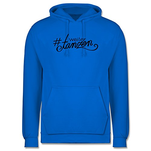 Statement Shirts - #weitertanzen - Männer Premium Kapuzenpullover / Hoodie Himmelblau
