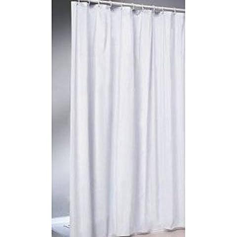 textile rideau de douche 240x 180Blanc/Blanc Rideau Douche Baignoire