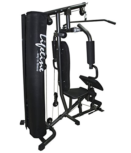 Lifeline home gym deluxe with cover & preacher curl hg 005
