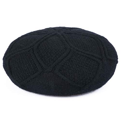 Weibliche Kostüm Mafia - kyprx Ji Frau Mode Beray Kostüm elastische Achteck Mütze weiblich Mao Frau Bailey Maler Hut weiblich schwarz