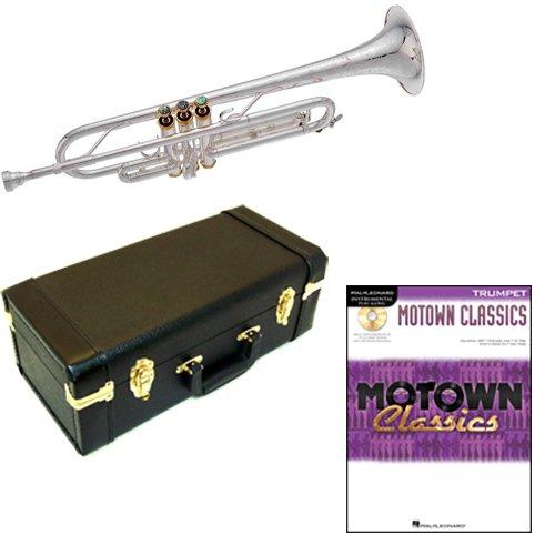 MOTOWN Classics BB, versilberte Trompete Pack–inkl. Trompete w/Fall & Zubehör & MOTOWN Classics Play Along Book