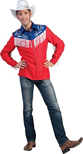 Karneval-Klamotten Kostüm Country Hemd Western Herr Karneval Line Dance Herrenkostüm Größe 56/58