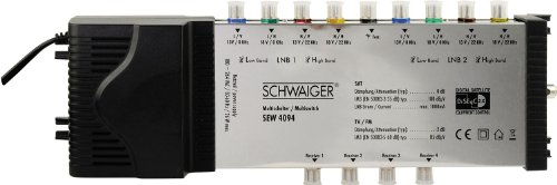Schwaiger SEW4094531 9/4 DiSEqC Satelliten-Multischalter silber
