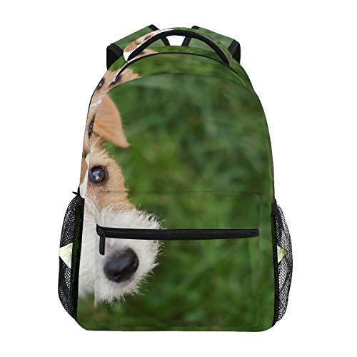 VstiSsxhdai Schulrucksäcke Hundegesicht - Süße glückliche Haustier Student Rucksack groß für Mädchen Kinder Grundschule Umhängetasche Bookbag