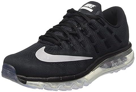 Nike Air Max 2016, Chaussures de Course Homme, Noir / Blanc / Gris (Noir / Blanc-Gris Foncé), 49 EU