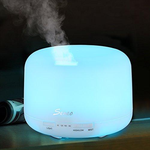 Seneo 500ml Aroma Diffuser Essential Oil Diffuser, Ultrasonic Cool Mist Air Humidifier...