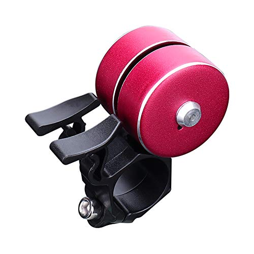 Livecitys Fahrradklingel, Aluminiumlegierung, 120 dB, lauter Klang, rot (Zwei-finger-doppel-ringe)
