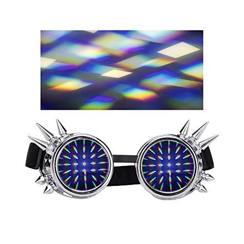 AFUT Festivals Rave Beugungsbrillen Steampunk Goggoles für EDM -