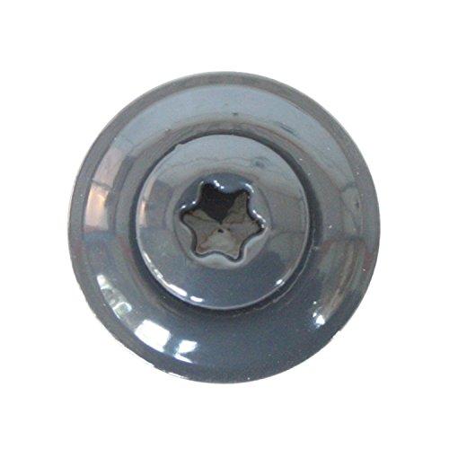 Spenglerschrauben Edelstahl A2 anthrazit lackiert, Anthrazitgrau RAL 7016 4,5 x 25 mm, 100 Stk.