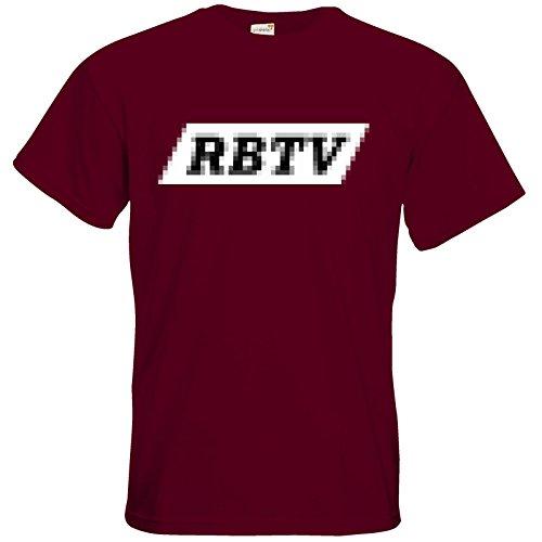 getshirts - Rocket Beans TV Official Merchandising - T-Shirt - Pixel RBTV Burgundy