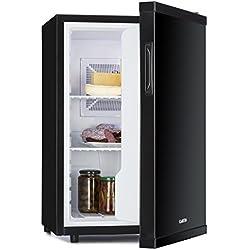 Klarstein Beerbauch - Minibar, Mini-réfrigérateur, Réfrigérateur à boissons, A, 65 Litres, env. 46 x 74 x 54,5 cm (LxHxP), Particulièrement silencieux, 2 étagères, Compartiments porte, Noir