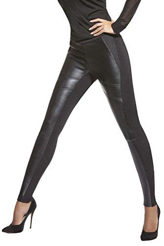 Bas Bleu Elegante Leggings mit Lederoptik   Gr. S - L   Leggins Damenhose  Hose Damen Treggings Skinny Jeggings Leder-Look (Taylor Gr. S) fb545af131