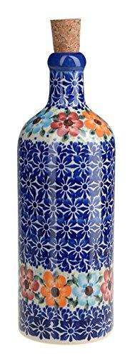 classic-boleslawiec-pottery-hand-painted-ceramic-olive-oil-or-vinegar-bottle-500ml-512-u-004