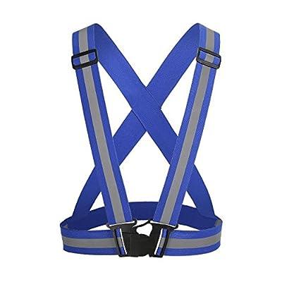 Godlife Unisex Verstellbar Warnweste Reflektierend Wear für Night Running (Blau)