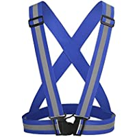 Godlife Chaleco Reflectante Unisex Ajustable para Correr por la Noche (Azul)