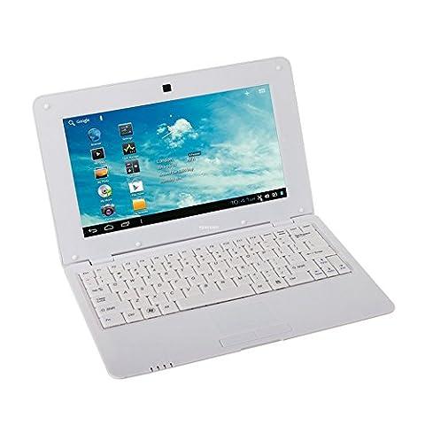 Soledpower® Neu (Android 4.2 - 1 GB RAM, 4 GB Festplatte ) Fest Weiß 10,1-Zoll-Android-Laptop Netbook PC, Wireless-LAN und Kamera mit installierten Anwendungen (einschließlich Mini-PC-Maus), SD-Karten-Unterstützung, Google Play Store, HDMI, weiße (Festplatte Netbook)