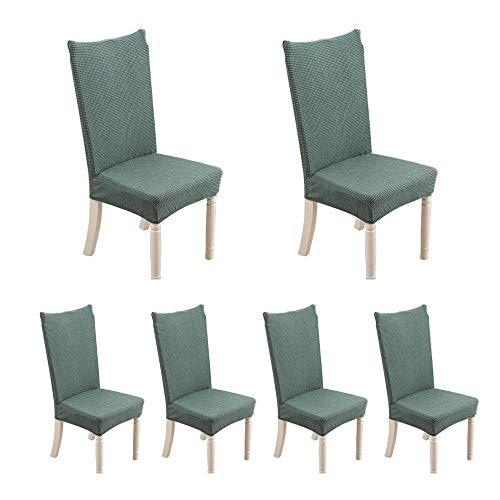 Aolvo coprisedie con schienale 6 pezzi moderna protettiva in elastico, molto facile da pulire e resistente, coprisedile, moderna sala da pranzo, hotel, arredamento ristorante - verde