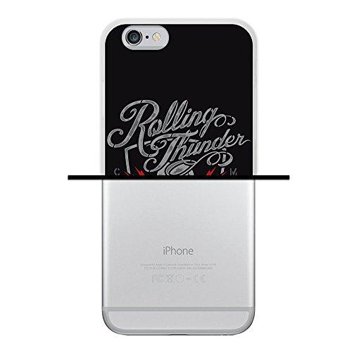 iPhone 6 6S Hülle, WoowCase Handyhülle Silikon für [ iPhone 6 6S ] Schwarzer zuckeriger Totenkopf Handytasche Handy Cover Case Schutzhülle Flexible TPU - Schwarz Housse Gel iPhone 6 6S Transparent D0184