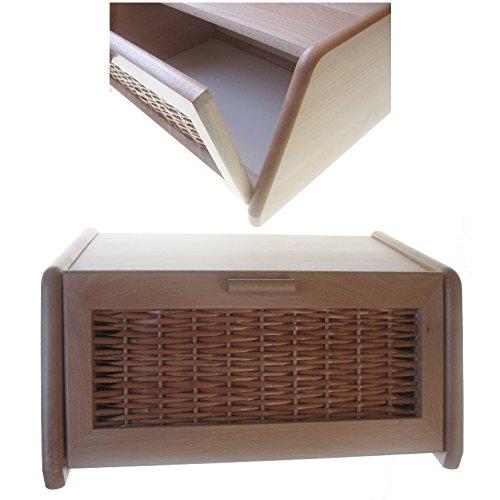Hagspiel-Panera de madera de madera de haya, lacado natural, con Tapa transpirable