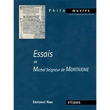 Essais de Michel Seigneur de Montaigne