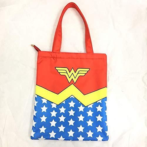 Hot Anime Wonder Woman Shopping Bags Hero Super Girl Logo Tote Lady Summer Beach Bag Portable Shoulder Handtasche Gifts Handy Bags 1 -