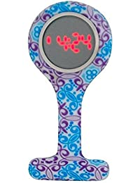 Boxx Led Digital Display Funky Retro Design Silicone Nurses Fob Watch Boxx390