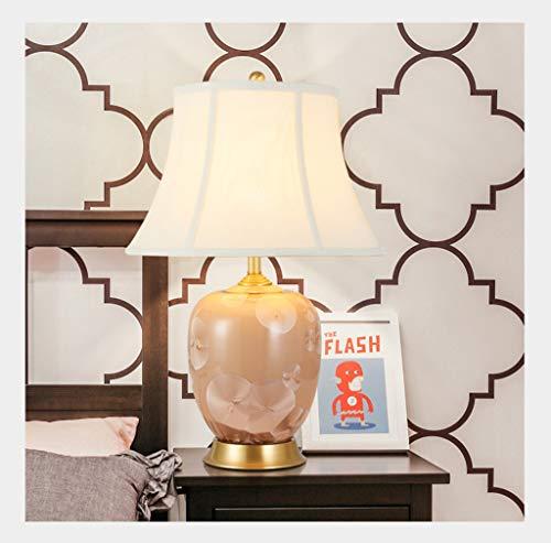 & Luz Leer Lámpara Mesa Dormitorio cerámica Sala