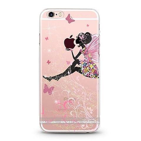 Casetic | iPhone 6 Plus Schutzhülle Fee Rosa TPU Hülle Cover Handyhülle Bumper Handytasche Hülle mit Foto Silikon Case