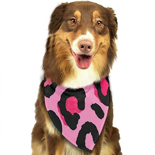 Kostüm Cheetah - nxnx Dog Bandana Cheetah Lignt Pink Leopard Pet Scarf Triangle Bibs Kerchief Set Pet Costume Accessories Decoration for Small Medium Large Dogs Cats Pets