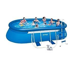 Intex frame pool set blau 610 x 366 x 122cm for Garten pool 366x122