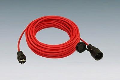 Verlängerungskabel aus Gummileitung 20m H05RR-F 3G1,5 rot von Althoff-Kabel bei Lampenhans.de