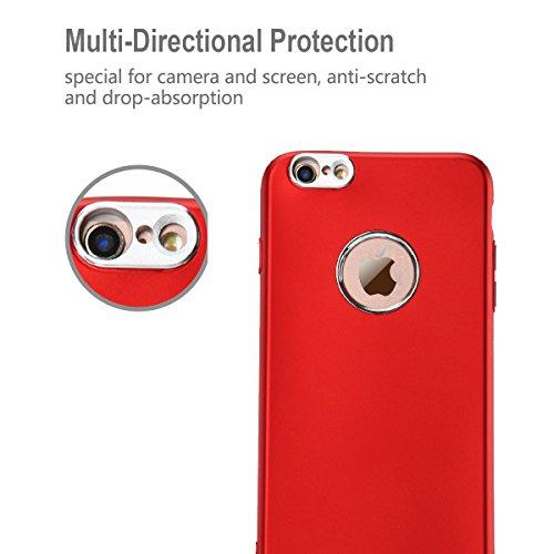 Coque iPhone 6 Plus , iPhone 6S Plus Housse , CaseLover Etui Coque TPU Slim Bumper pour iPhone 6 Plus / 6S Plus (5.5 pouces) Mode Flexible Souple Gel Silicone Case Couverture Housse de Protection Anti Rouge