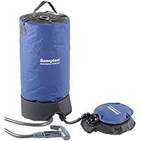 Semptec Urban Survival Technology Solardusche: Tragbare Druck-Campingdusche mit Fußpumpe, 11 Liter (Outdoor Dusche)