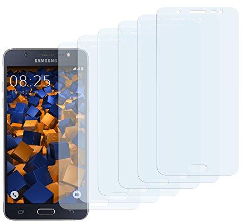 mumbi Schutzfolie kompatibel mit Samsung Galaxy J5 2016 Folie klar, Bildschirmschutzfolie (6x)