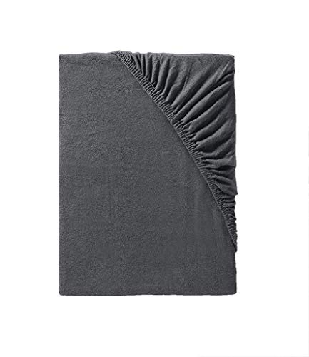 Träumschön Bettlaken schwarz 180x200 bis Spannbettlaken 200x200 Matratzen variierbar | Jersey Stretch Spannbetttuch | Ideal kombinierbar mit Schwarze Bettwäsche -