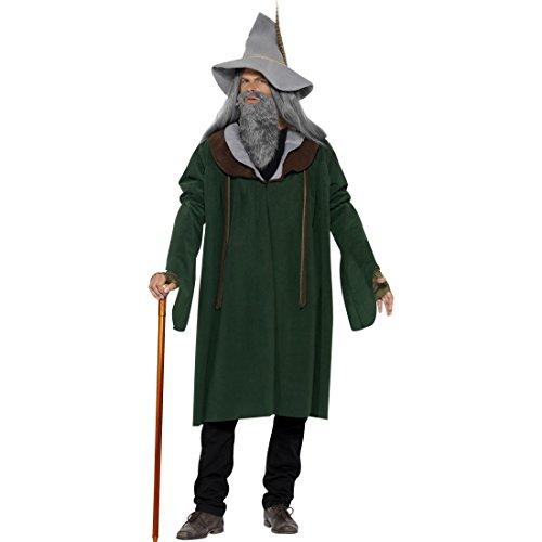 üm Wald Zauberer Kostüm M 48/50 Magier Märchenkostüm Merlin Halloweenkostüm Hexer Faschingskostüm Märchen Karnevalskostüm Halloween Kostüme Herren (Mystische Zauberer Kostüm)